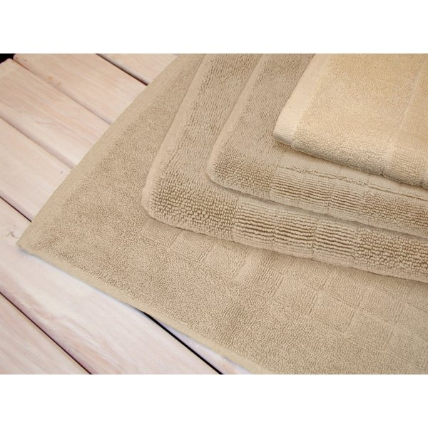 Egyptian Cotton Ivory Bath Mat 90 x 50 cm