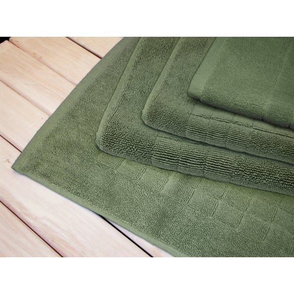 Egyptian Cotton Sage Green Bath Mat 90 x 50 cm