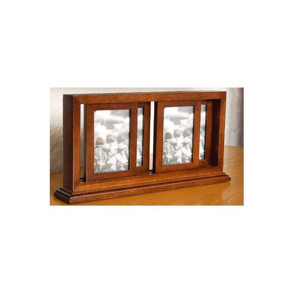 Mahogany Finish Movable Photograph Frame