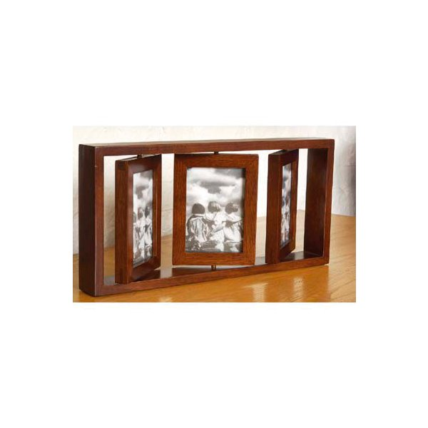 Mahogany Finish Rotating Photograph Frame
