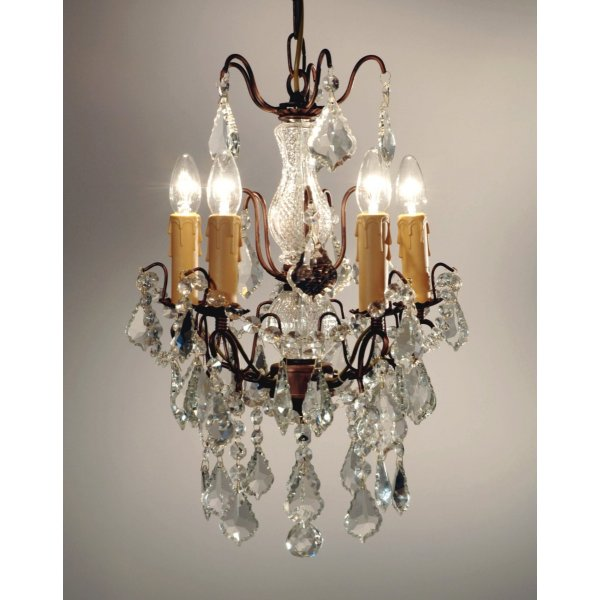 Versailles Chandelier - Crackle Cream